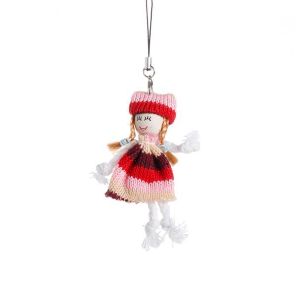 Брелок Девочка вязанное платье