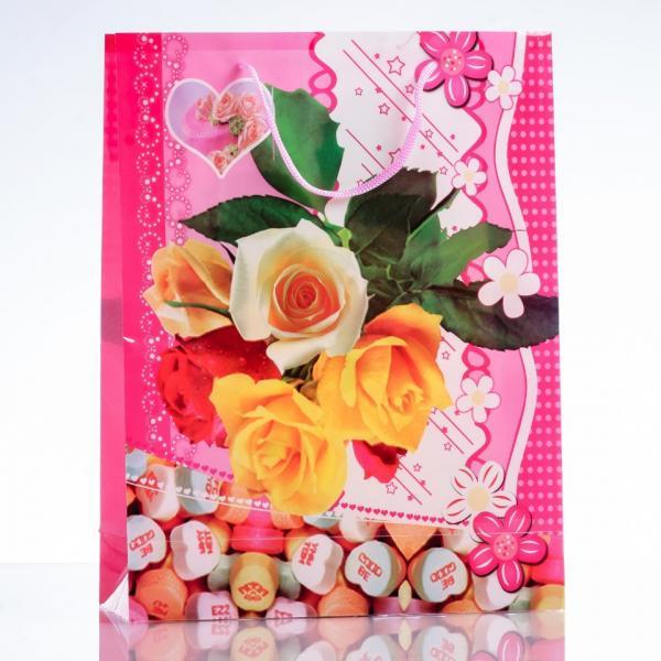 Фото Коробочки, футляры, мешочки для бижутерии (подарков), Подарочные Мешочки  и пакеты Пакет подарочный 23х30см (материал  ПЭ)