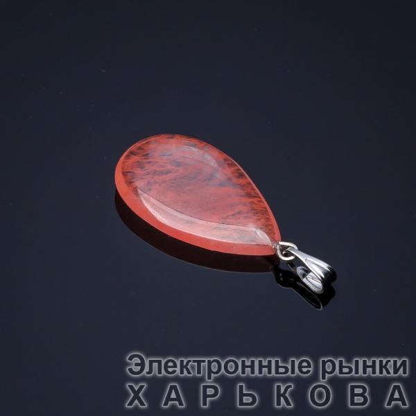 Кулон Капля  Халцедон 2,5х1,7см(+-) - Кулоны, подвески на рынке Барабашова