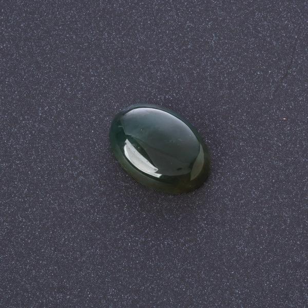 Фурнитура Кабошон Яшма зеленая нат камень 1,3х1,8см (+-)