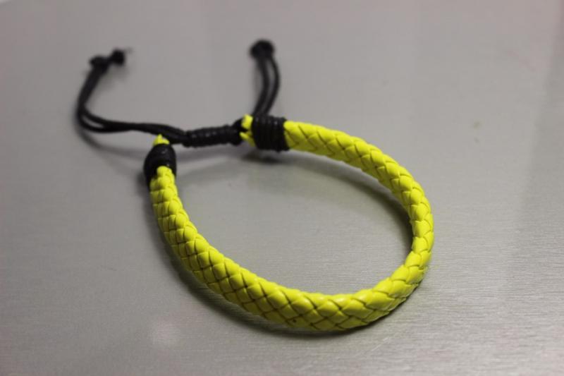Браслет молодежный плетенка Лимон на затяжке