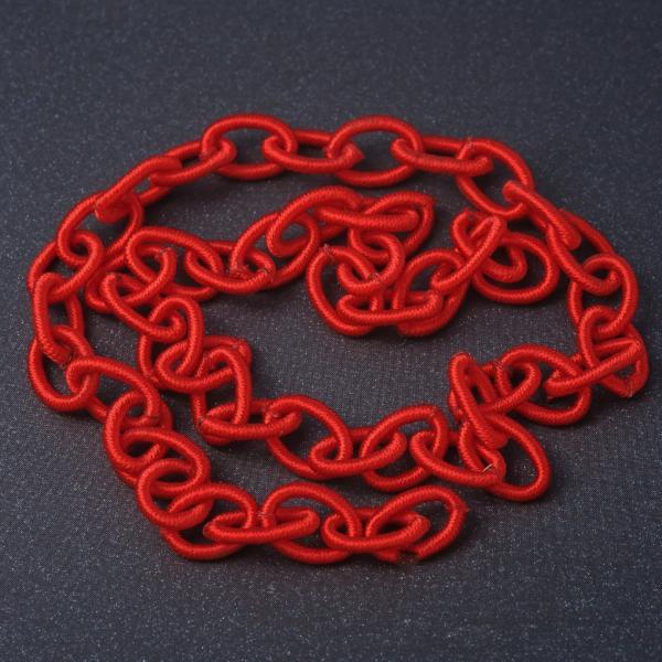 Фото Фурнитура для создания  украшений, Проволока, струна, монопроволока, шнуры шамбала, резинки,  нитки для бус Цепь якорная мягкая красная текстиль