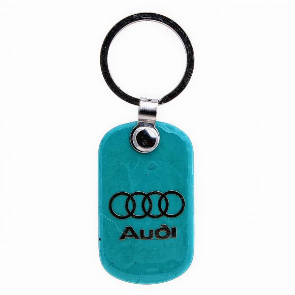 "Брелок для ключей AUDI из ""бирюзы"",55мм"