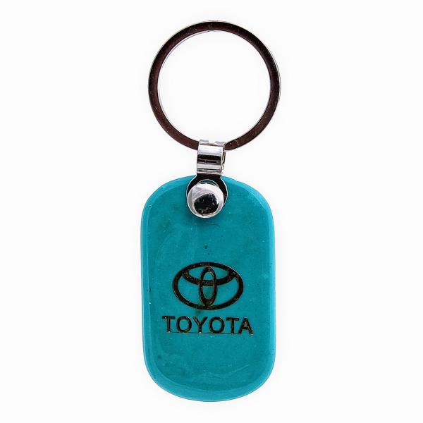 """Брелок для ключей TOYOTA из """"бирюзы"""",55мм"""