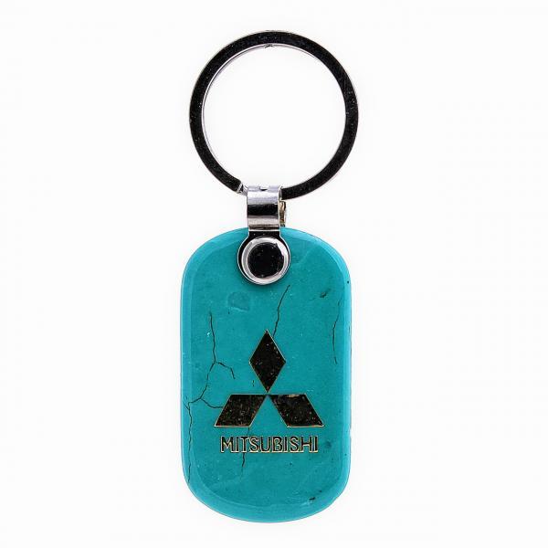 """Брелок для ключей MITSUBISHI из """"бирюзы"""",55мм"""