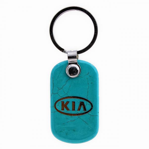 "Брелок для ключей KIA из ""бирюзы"",55мм"