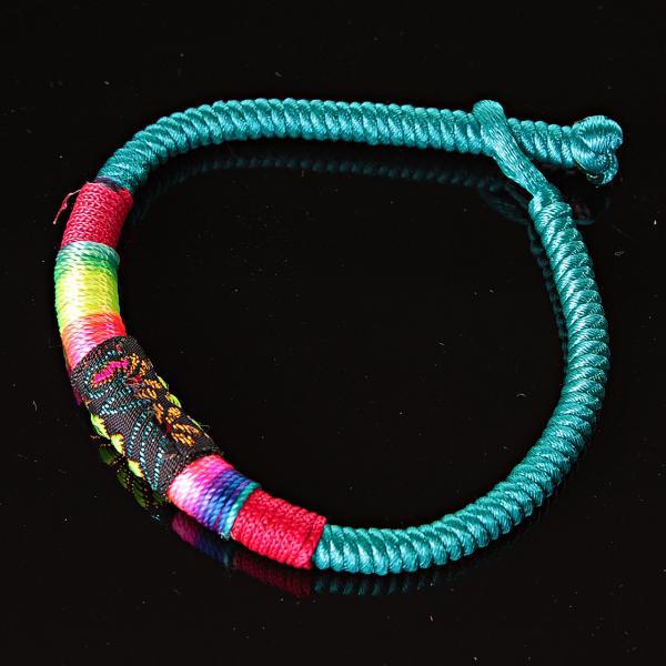 Браслет африка текстиль голубой ассорти