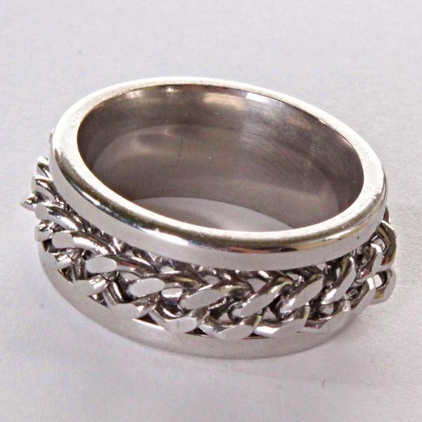 [17,18,19,20] Мужское кольцо обручальное  цепь 20