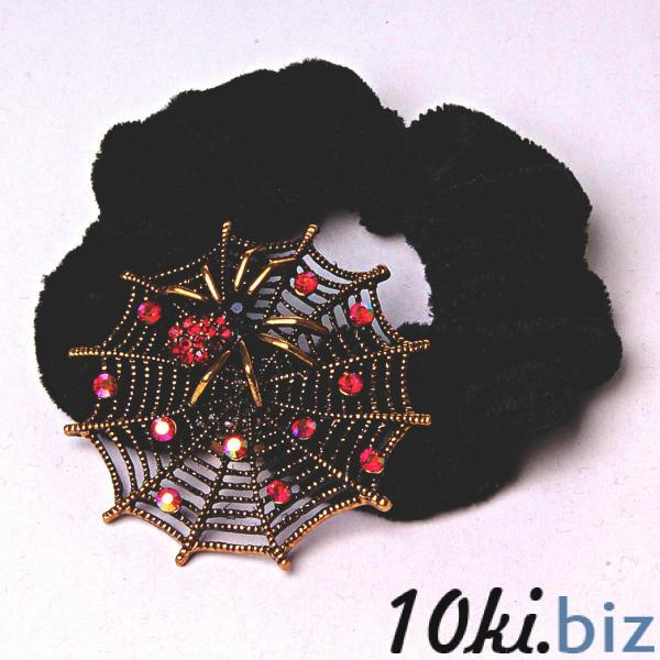 Резинка для волос резинка черный бархат паучье гнездо бронза - Резинки и банты для волос в магазине Одессы