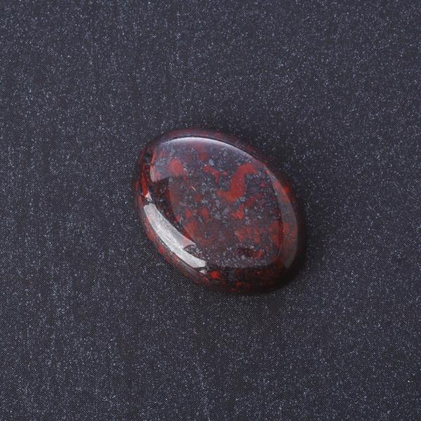 Фурнитура Кабошон Яшма красная  нат камень 2,5х1,8см