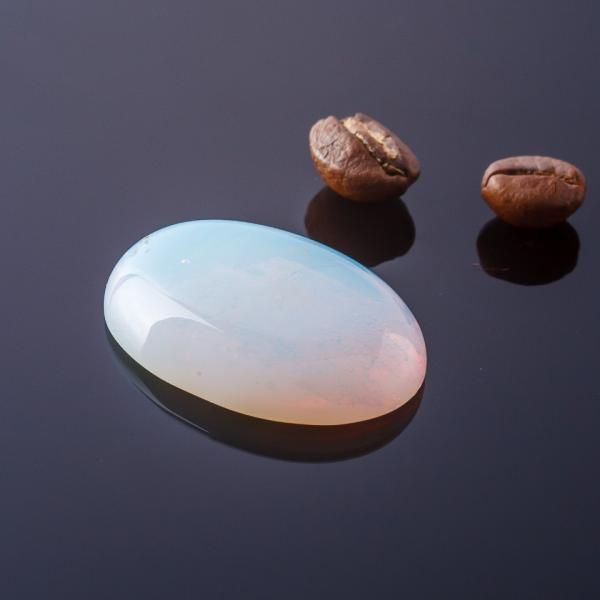 Фурнитура Кабошон Лунный камень  овал  d-30х22мм