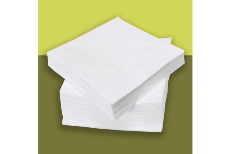 Салфетки безворсовые 20х20 см, спанлейс, Panni Mlada (100 шт)