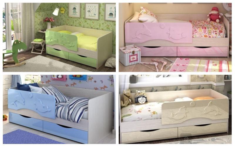 Кровать Алиса (Два дельфина) 1,6м (1,4м, 1,8м)