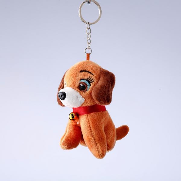 Брелок Собачка флис оранжевый L-10 L-16