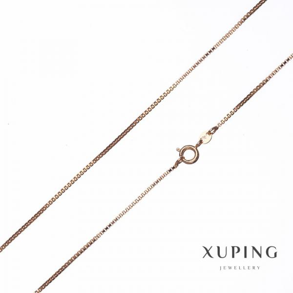 Цепочка Xuping, плетение Квадрат L-35см s-1,36 мм цвет золото