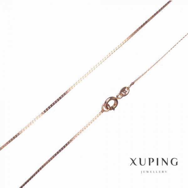 Цепочка Xuping, плетение Колосок плоский L-45см s-1мм цвет золото