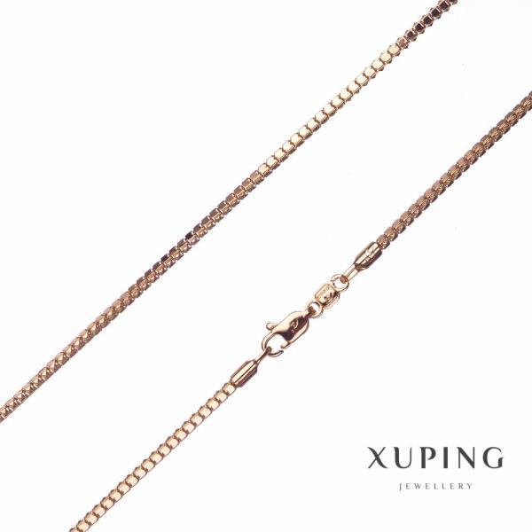 "Цепочка Xuping, плетение Квадрат ""спинка Дракона"" L-50см s-2,2мм цвет золото"