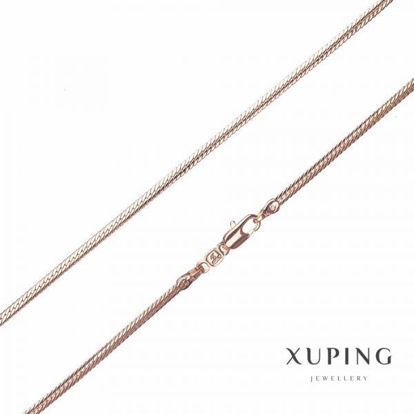 Цепочка Xuping, плетение Колосок плоский  L-50см s-2,5мм цвет золото