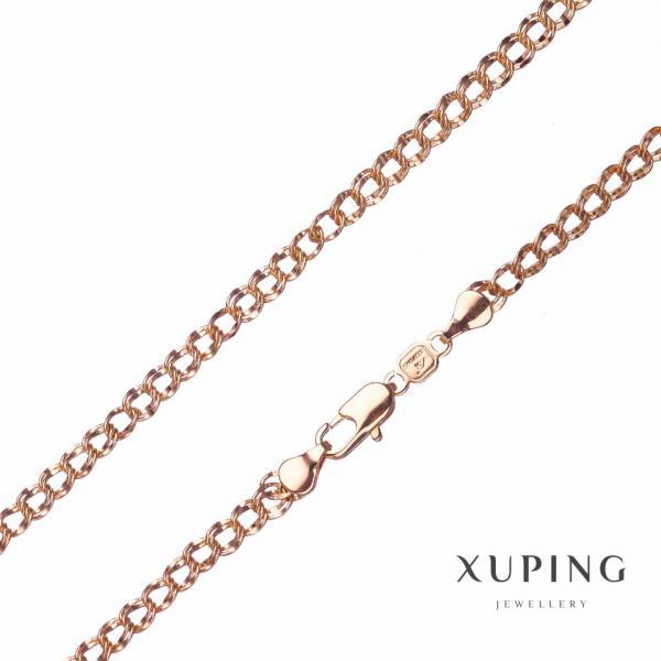 Цепочка Xuping, плетение Бисмарк L-50см s-6мм цвет золото