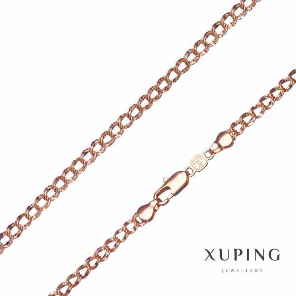 Цепочка Xuping, плетение Бисмарк L-60см s-6мм цвет золото