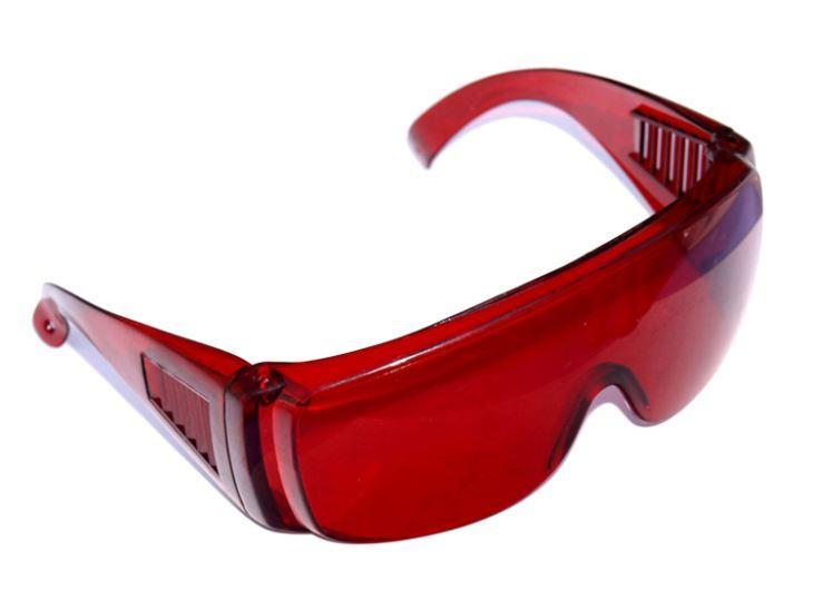 Light Curing Glasses (Anti-fog) - защитные фото очки темно-красные не потеющие