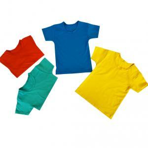 Фото  Детские однотонные футболки