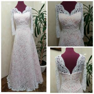 Фото Свадебные платья Евгения (пудра)