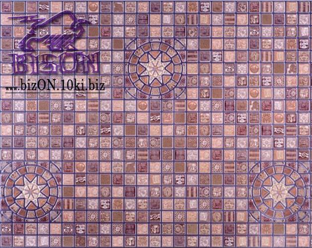 Мозаика «МЕДАЛЬОН ФИОЛЕТОВЫЙ»   Листовые панели ПВХ