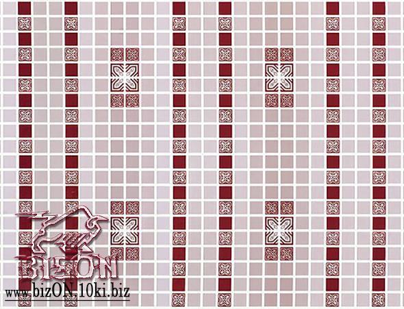 Мозаика «ОРНАМЕНТ КРАСНЫЙ»   Листовые панели ПВХ