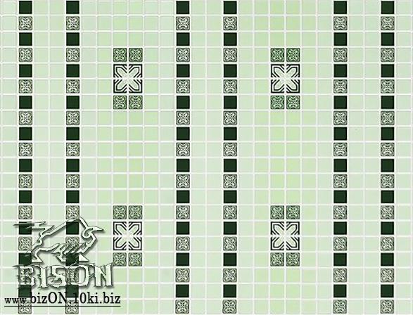 Мозаика «ОРНАМЕНТ ЗЕЛЕНЫЙ»   Листовые панели ПВХ