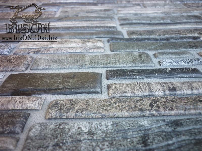 Фото Листовые панели ПВХ Камень «ПЛАСТУШКА СЕРАЯ»   Листовые панели ПВХ