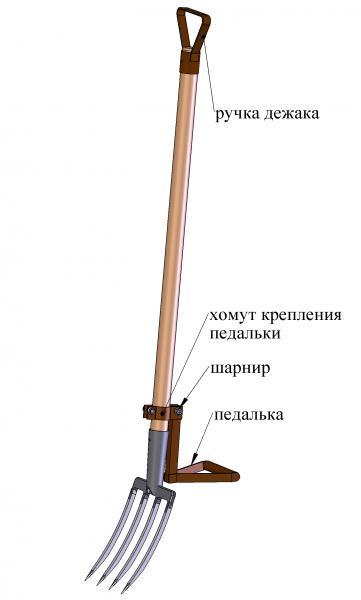 Насадка на вилы или лопату