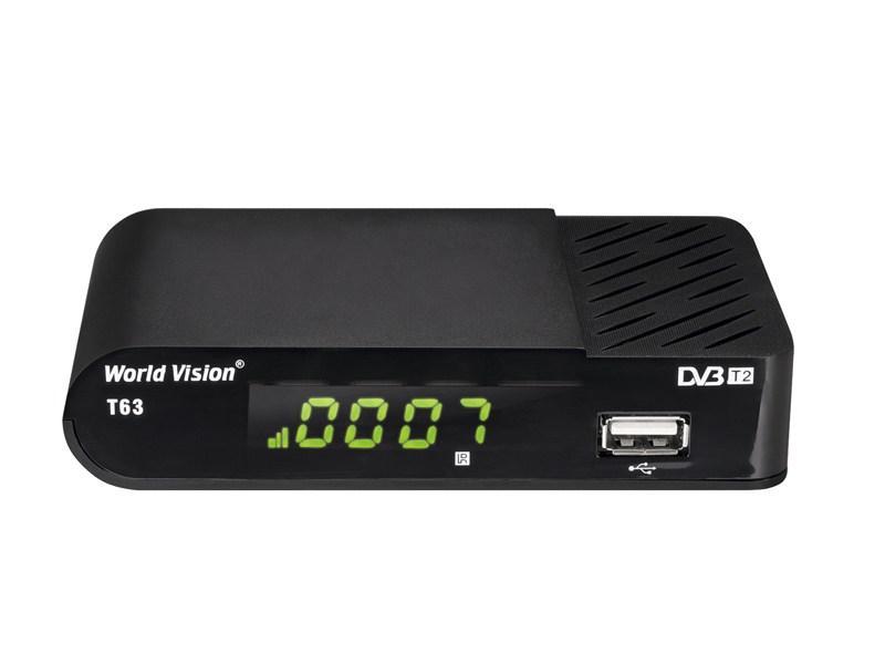 Эфирный цифровой ресивер World Vision T63 DVB-T2