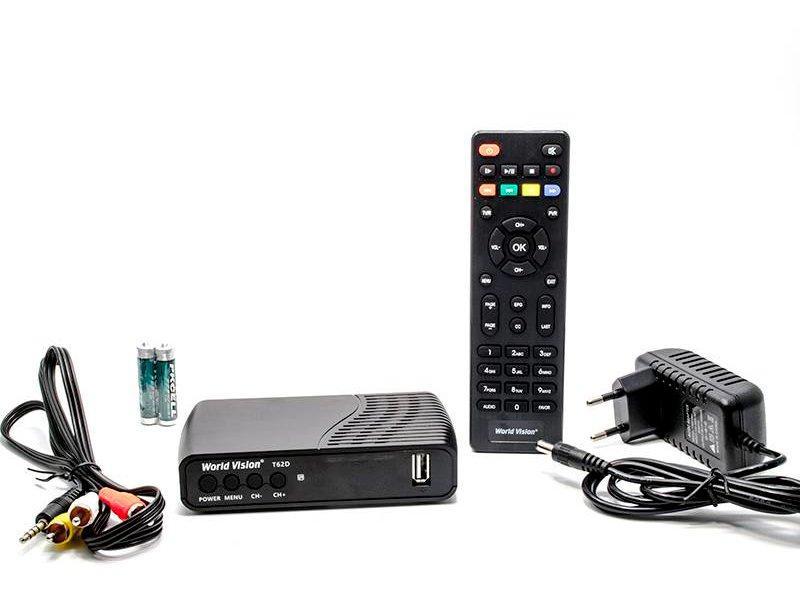 Эфирный цифровой ресивер World Vision T62D DVB-T2 AC3