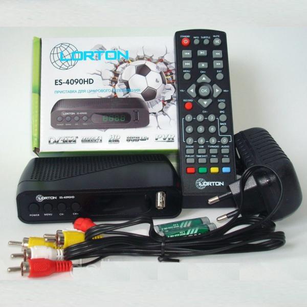 Эфирный цифровой ресивер LORTON ES-4090HD IPTV DVB-T2/C