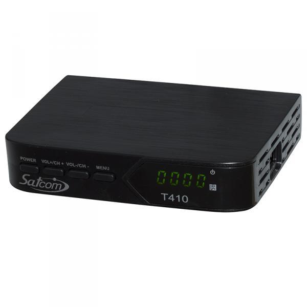 Эфирный цифровой ресивер Satcom T410 IPTV DVB-T2 ИК датчик
