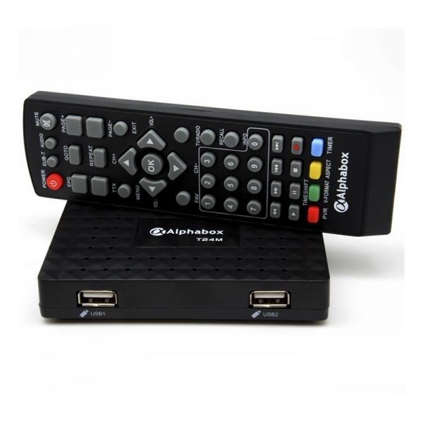 Эфирный цифровой ресивер Alphabox T24M DVB-T2 Dolby Digital AC3 БП 12В