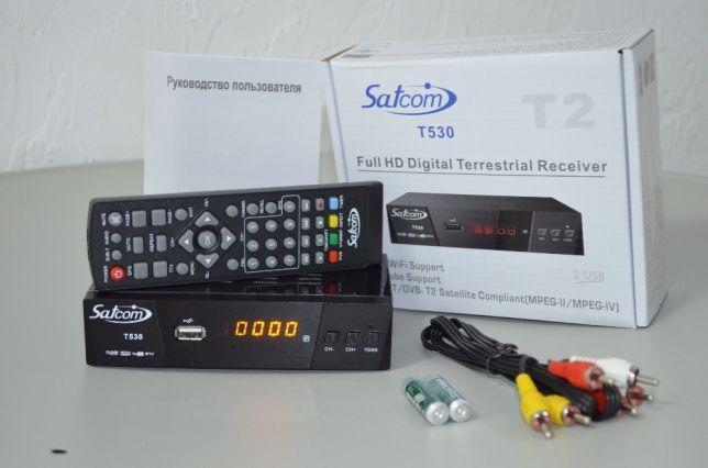 Эфирный цифровой ресивер Satcom T530 DVB-T2 IPTV Dolby Digital AC3