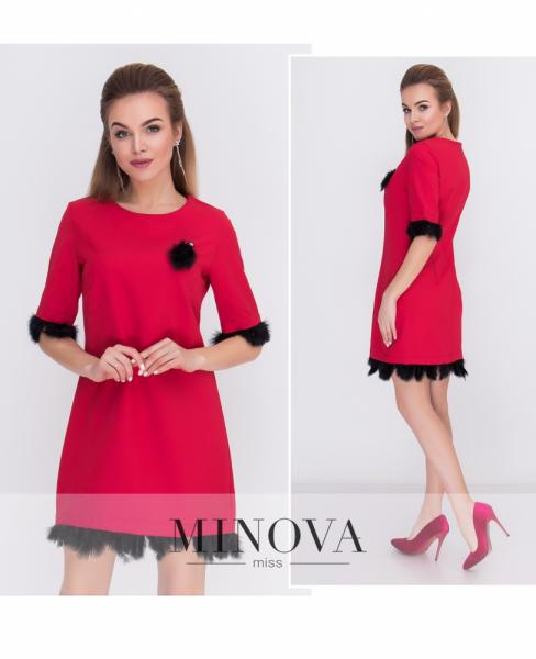 Платье №м.116-красный