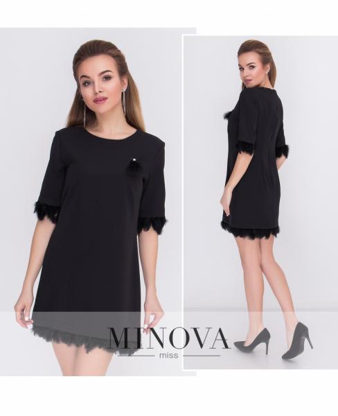 Платье №м.116-черный