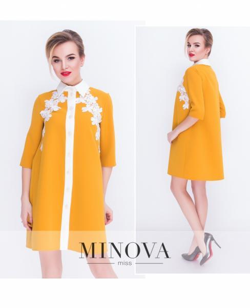 Платье 7061-горчица