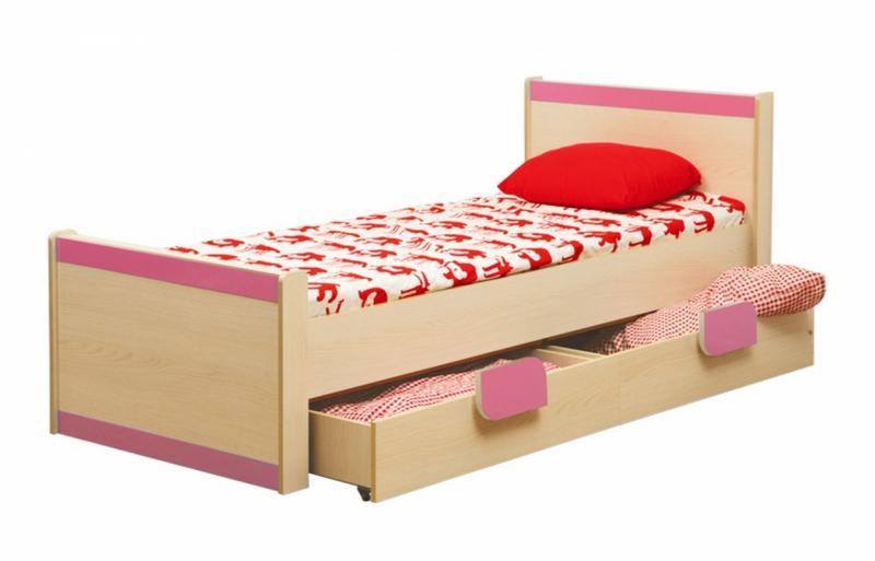 Фото Столы журнальные, столы-тумбы Кровать одинарная Лайф-4 розовая (Олмеко)