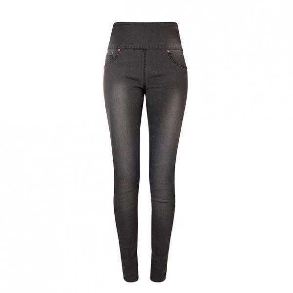 Жіночі штани (джегінси). Сірі з потертостями