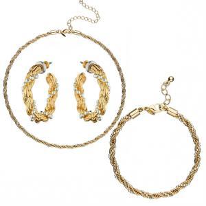 Набір прикрас «Брекстон»: кольє, браслет, сережки