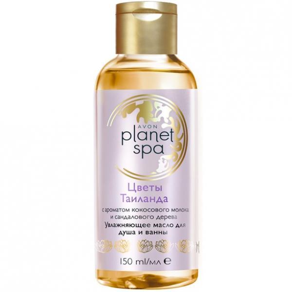 SPA Зволожувальна олія для ванни та душу з ароматом кокосового молока і сандалового дерева «Квіти Таїланду» (150 мл)
