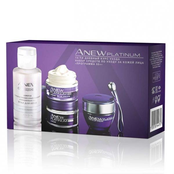 Набір засобів з догляду за шкірою обличчя для віку 55+ Anew Platinum