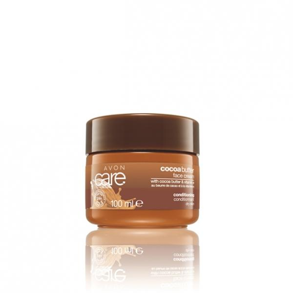 Відновлювальний зволожувальний крем для обличчя з маслом какао і вітаміном Е, 100 мл