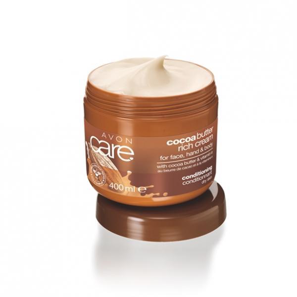 Відновлювальний зволожувальний крем для обличчя і тіла з маслом какао і вітаміном Е, 400 мл