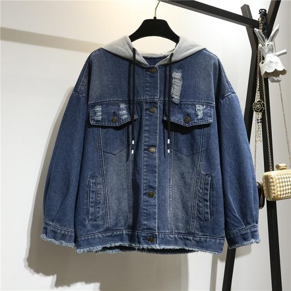 Джинсовая куртка с капюшоном размеры 52-66
