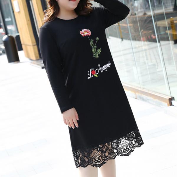 Платье с отделкой гепюром размер 46-70